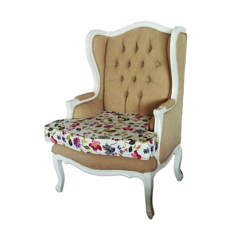wing chair shabby chic