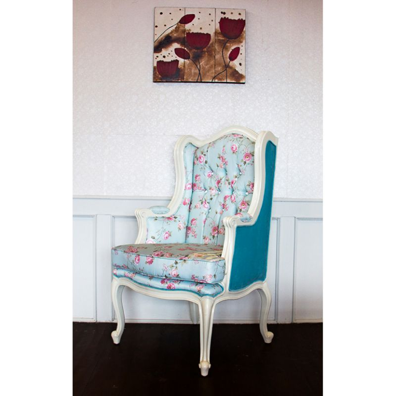 Wing chair shabby shic